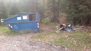 Avfallscontainer for hyttefolk i Sigdal kommune