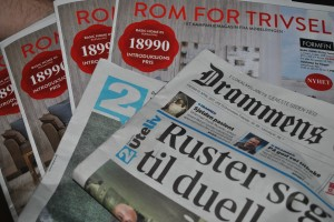 Drammens Tidende gjør sitt beste for å støtte papirindustrien