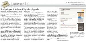 Faksimile fra Bygdeposten 21. juni 2012