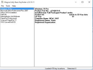 Finne produktnøkkel til Windows 10