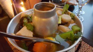 Klar suppe og vegansk mat på vegansk prøvesmaking hos Soi Saam